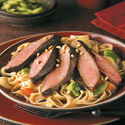 Flat Iron Steaks with Peanut Sauce