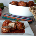 Crimini and Pork Albondigas (Meatballs) with Chipotle Tomato Sauce